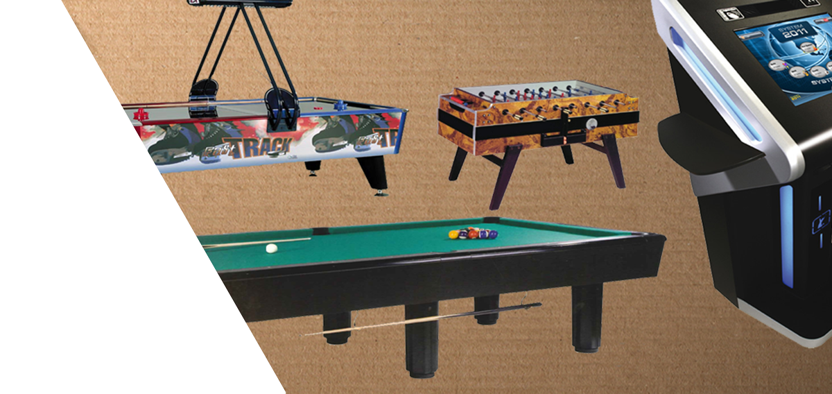 Airhockey, Billard, Tischfußball, Kicker, Photo Play
